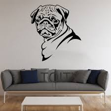 Small Picture Aliexpresscom Buy Pug Dog Stickers Wall Pet Animal Vinyl Decals