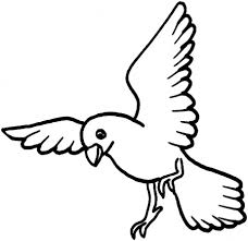 Flying Bird Coloring Pages Getcoloringpagescom