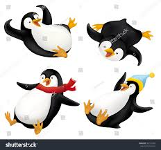 penguin sliding clip art. Unique Art Set Of Sliding Penguins Illustration With Penguin Clip Art G