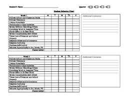 3rd Grade Behavior Chart Daily Weekly Behavior Chart