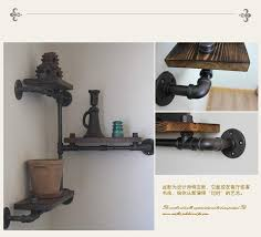 american iron corner bookcase shelves retro creative personality industrial pipe wall shelves wall shelving