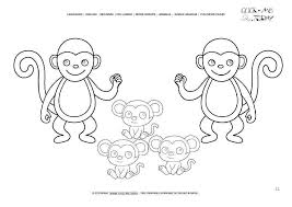 Monkey Coloring Pages And Monkey Coloring Pages Best Monkey