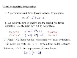Factoring Polynomials By Grouping Worksheet Worksheets for all ...
