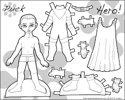 Small Picture Paper Doll Coloring Pages Coloring Page Blog