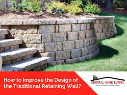 design of your traditional retaining wall