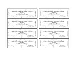 Microsoft Word Ticket Templates Magnificent Microsoft Word Ticket Templates Colbroco