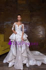 2018 Mermaid Scoop Long Sleeves Wedding Dresses Tulle & Lace With ...