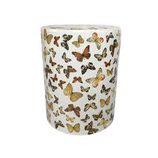 ceramic garden stools. White Ceramic Garden Stool With Butterfly Pattern Stools E