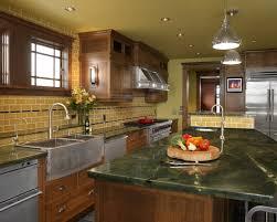 Black Apron Front Kitchen Sink Cute Two Unique Ceiling Kitchen Lights Over Black Granite Tops