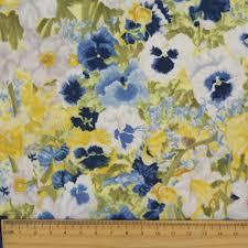 fl fabrics colorful printed flowers cotton canvas fine plants garden flowers