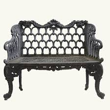 white iron outdoor furniture. \u0026ldquo;White House\u0026rdquo; Cast Iron Garden Bench White Outdoor Furniture I