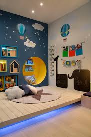 Balloon And Night Kids Wall Painting Ideas