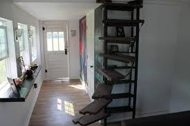 tiny house rope ladder. all the amenities