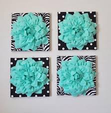 mothers day sale wall decor set of four mint dahlias on black and white prints 12 x12 canvases wall art on mint green canvas wall art with mothers day sale wall decor set of four mint dahlias on black and