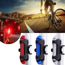 <b>USB</b> Charging LED <b>Bicycle Headlight Taillight</b> Safety Warning Rear ...