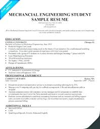 Model Resume For Freshers Mechanical Engineers A Mechanical
