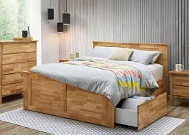 king size bed with storage drawers. Fine Bed Hardwood Fantastic King Size Bed With Four Storage Drawers U2013 Natural To With A