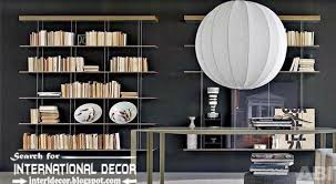 this is top 10 modern home library design ideas and organization