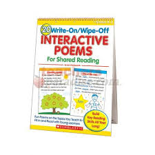 Counting Poems Flip Chart 20 Write On Wipe Off Interactive Poems For Shared Reading Flip Chart