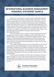 personal statement business management co personal statement business management international