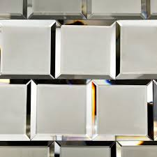 Small Beveled Mirror Tiles   Vanity Decoration Within Small Bevelled Mirror  (Image 16 of 20
