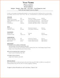 Dance Resume Examples Bongdaaocom Dance Resume
