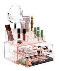 acrylic makeup storage pink acrylic makeup storage case acrylic makeup storage muji