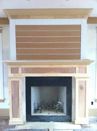 Railroad Tie Mantle shiplap and brick fireplace pinteres 7673 by guidejewelry.us