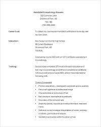 Cosmetology Resume Examples Amazing Hairstylist Resume Example Cosmetology Template Hair Stylist 24 Free