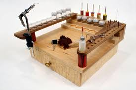 fly tying bench with drawer 200 00 via so marty and i can