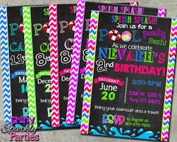 girl birthday invite pool party invitation pool party invite summer pool party birthday invitation summer birthday invite swimming pool swimming party