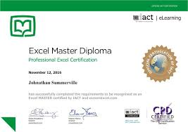 microsoft excel master diploma from iact excel master diploma online