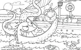 Monster Coloring Page Monster Coloring Pages For Preschoolers