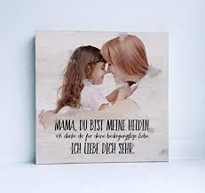 Holzbild Mit Sprüchen Eigenes Foto Und Text Muttertag Geschenk