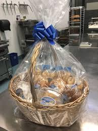 basket blue bow