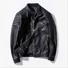 senarai harga male motorcycle leather jackets men moto biker jacket men faux leather coats mens slim fit lether outerwear black blue red 3xl terkini di