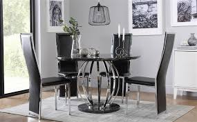 savoy round black marble and chrome dining table with 4 celeste chairs only 499 99