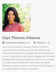 """Adam Milstein on Twitter: """"Another committee member, Gaye Theresa Johnson,  associate professor at UCLA college of social sciences, has supported  pro-Palestinian causes on Twitter, including retweets from pro-Iran  individuals who have deemed"""