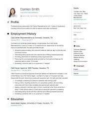 Call Center Resume Professional For Candace Filippi Revised
