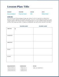 Teacher Daily Lesson Planner Template Teaching