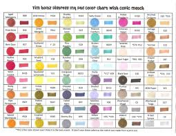 Fw Inks Colour Chart Craft Tips Sunshine In Your Day