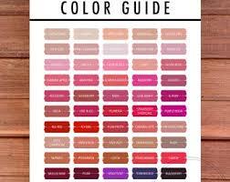 2017 Lipsense Color Guide Lipsense Party Decor Color Etsy