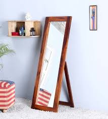 mirror on stand. buy honey finish sheesham wood full length floor mirror with stand ideas on