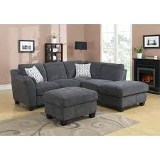 lidia 82 fabric 2 pc chaise sectional sofa with storage ottoman emerald charcoal on