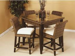 6 pc pub set includes 4 ea counter chairs square table base with choice of 36 inch or 42 inch square beveled glass regular 1895 00