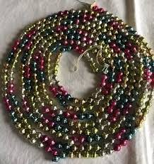 vintage mercury glass bead garland multi colored 102 inches