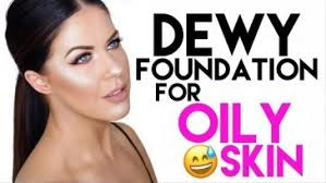 dewy foundation for oily skin long wearing shine free