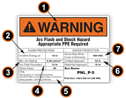 Arc Flash Hazard Labels And Arc Flash Boundary Chart