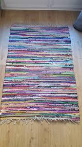 multicoloured rag rug