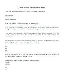 Cover Letter For Writing Sample Sample Cover Letter Of Interest